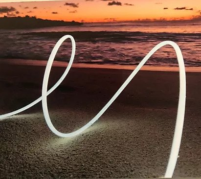 light strip on a beach
