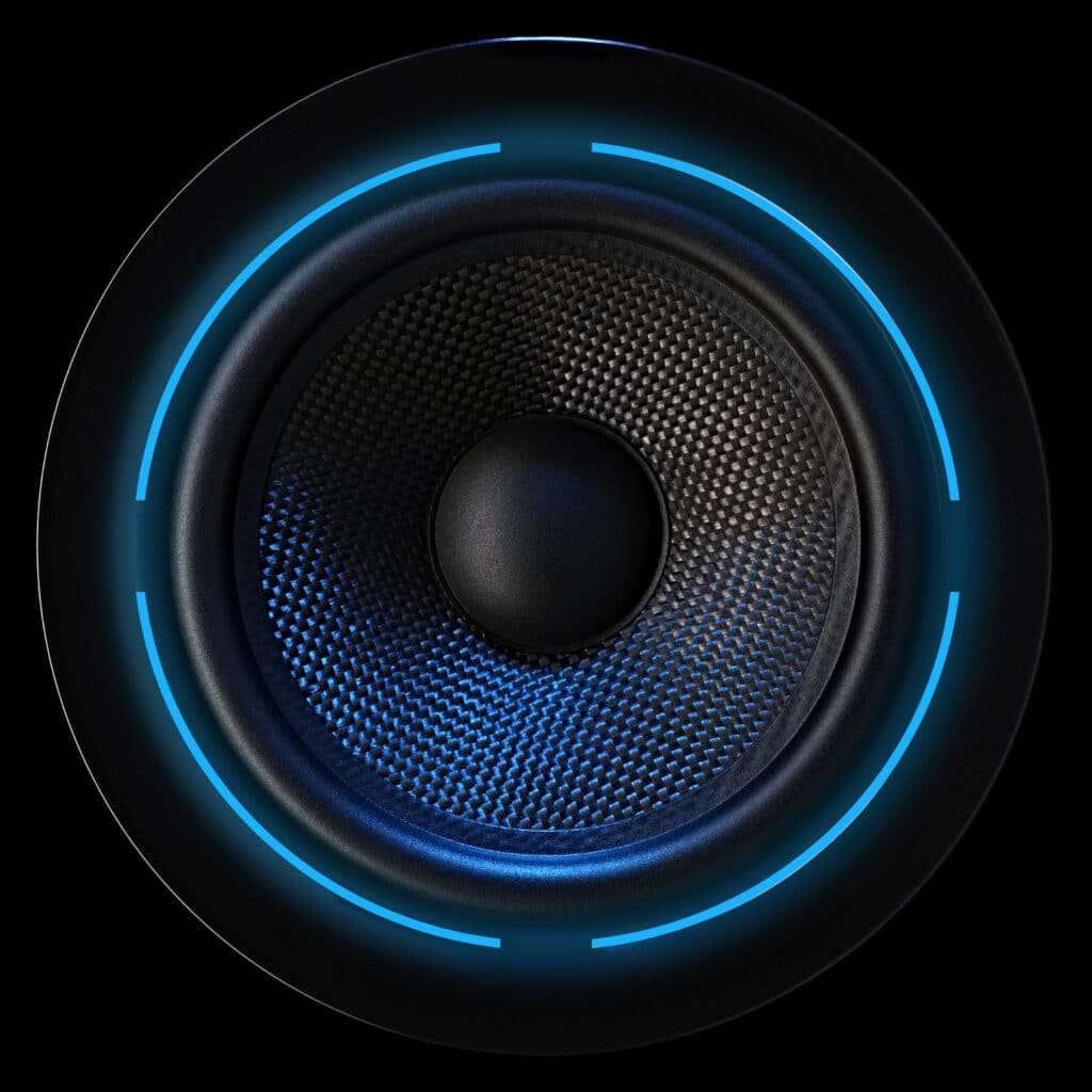 Loud speaker with luminous effect
