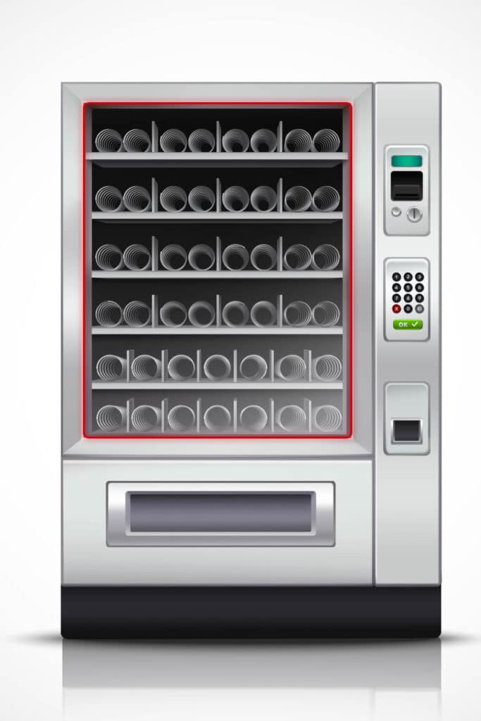 Vending Machine with illuminated front