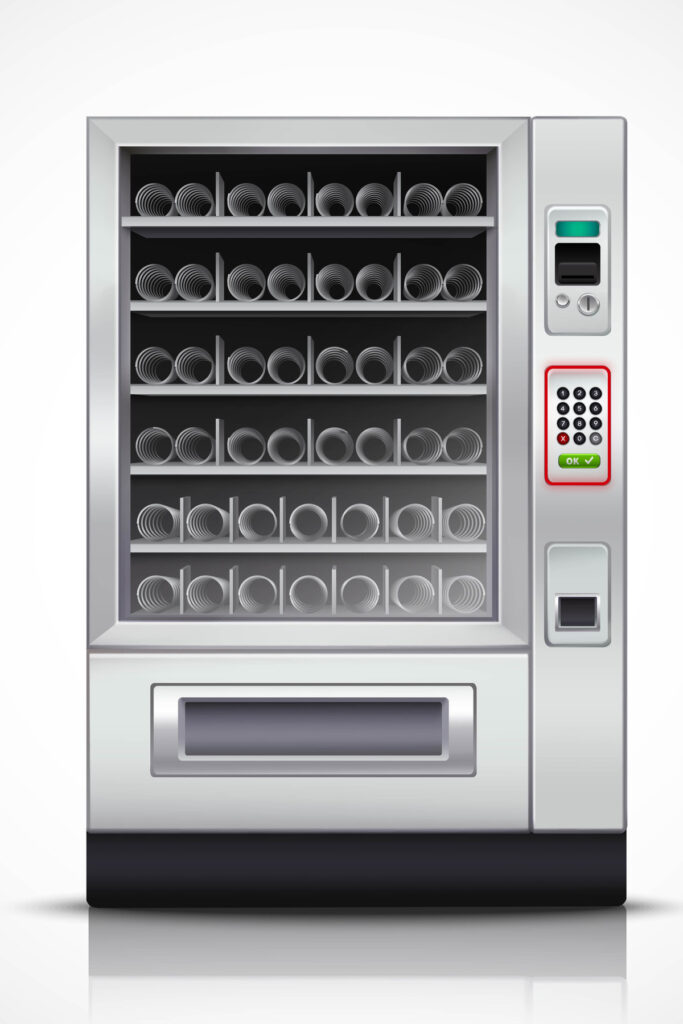 Vending Machine with illuminated keyboard